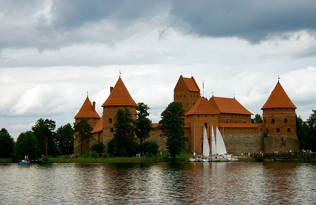 by Anita_Bonita1 on Flickr.Trakai Island Castle is an island castle located in Trakai, Lithuania on an island in Lake Galvė.