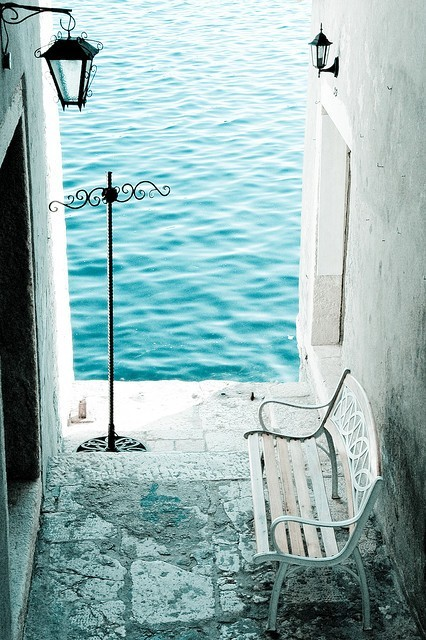 Bench by the Sea, Rovinj, Croatia