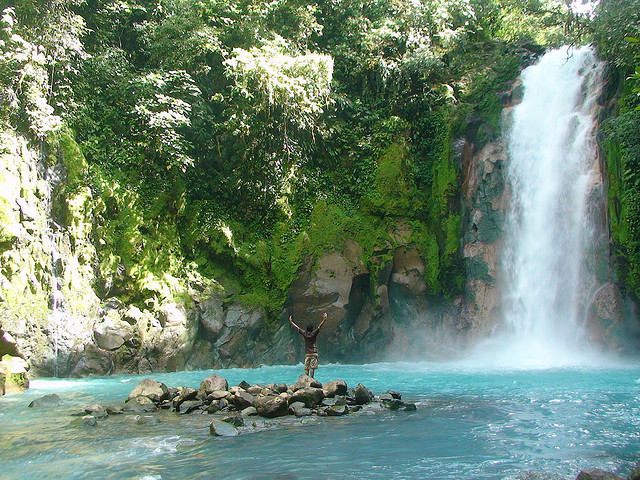 Rio Celeste is a river in Tenorio Volcano National Park of Costa Rica. It is notable for its distinctive turquoise coloration, a phenomenon caused by a chemical reaction...