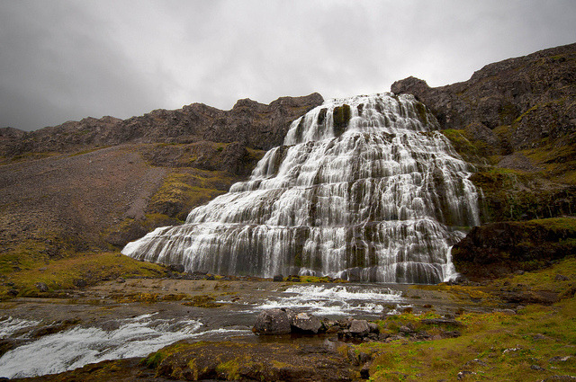 Dynjandi  is a set of waterfalls located in Westfjords, Iceland.