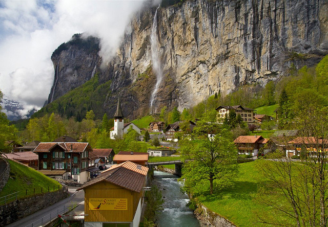 by Ji Wang on Flickr.Lauterbrunnen - canton of Bern, Switzerland.