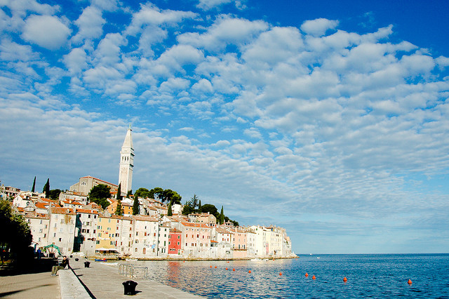 by twelvi on Flickr.Rovinj is a city in Croatia situated on the north Adriatic Sea on the western coast of the Istrian peninsula and is a popular tourist resort and an active fishing port.