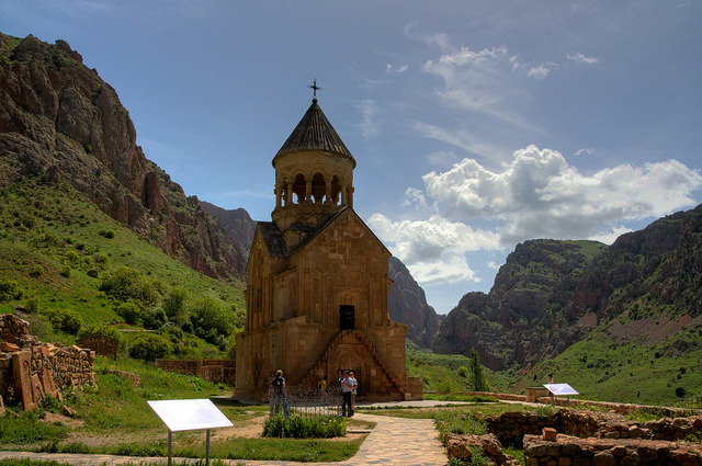 by Toon E on Flickr.Noravank Monastery is a 13th century Armenian Apostolic Church monastery, located 122 km from Yerevan in a narrow gorge made by the Amaghu river.