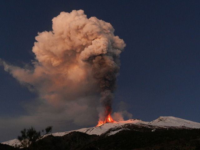 by etnaboris on Flickr.A most spectacular daybreak at Etna Volcano, Sicily, 5 January 2012.