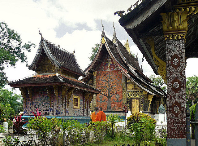 by B℮n on Flickr.Wat Xieng Thong is the holiest temple in Luang Prabang, Laos.