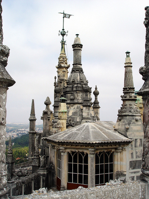 by Rafa Gallegos on Flickr.Towers of Quinta da Regaleira in Sintra, Portugal.