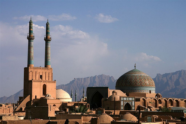 Jameh mosque in Yazd, Iran