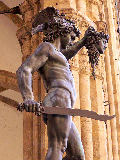 Perseus with the head of Medusa, by Cellini in Florence, Italy