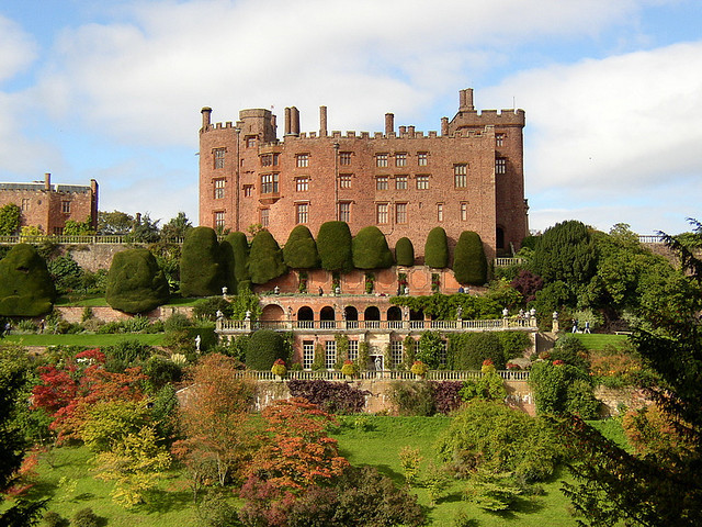 Powis Castle near the town of Welshpool, Wales