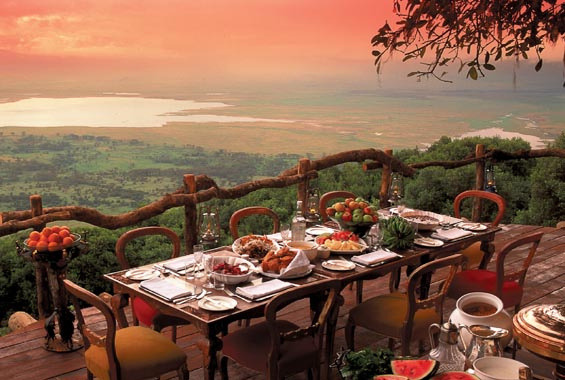 View from Ngorongoro Crater Lodge, Tanzania