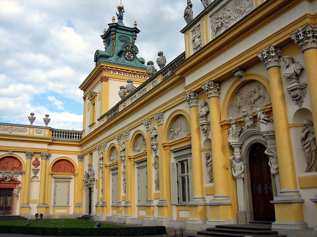 Baroque architecture at Wilanow Palace in Warsaw, Poland