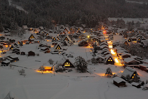 Winter's Night, Ogimachi Gassho Village, Japan
