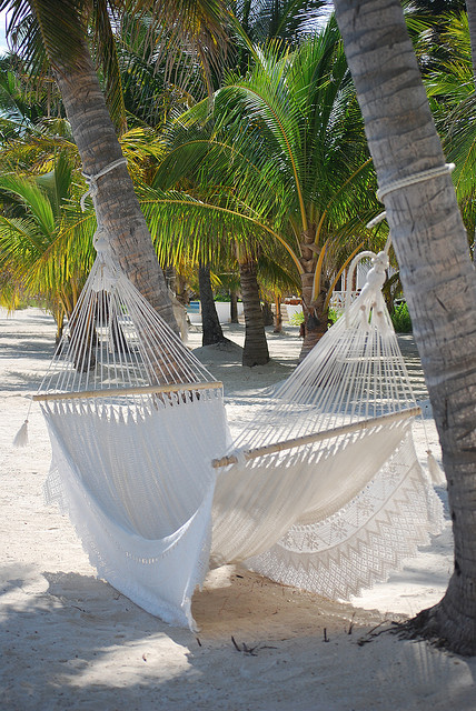 Victoria House beach hammock, Ambergris Caye, Belize