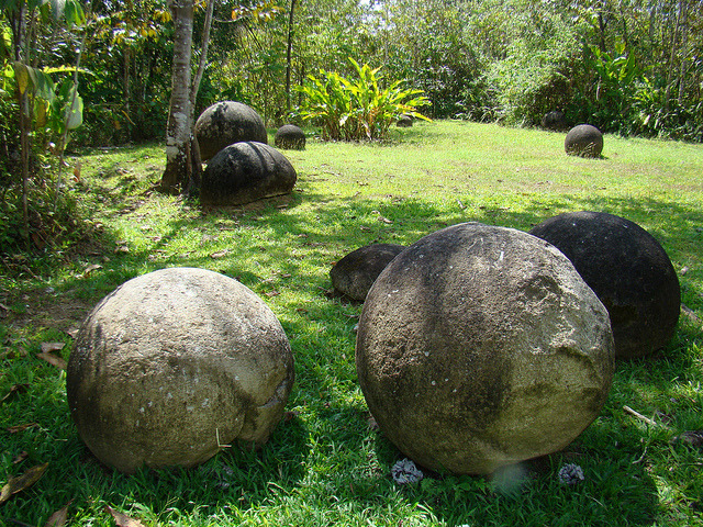 Mysterious pre-columbian stone spheres in southern Costa Rica