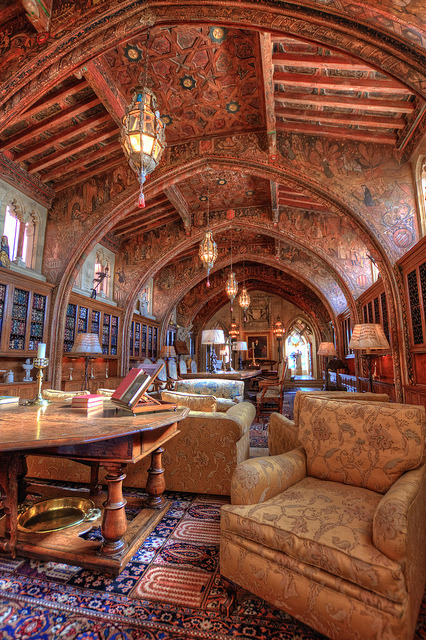 Gothic Study at Hearst Castle, California, USA