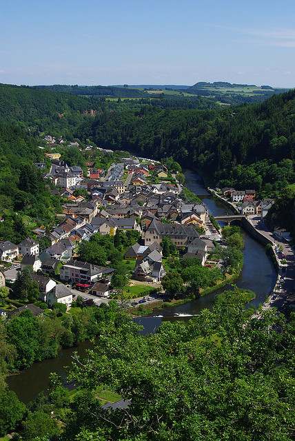 The village of Vianden seen from the castle, Luxembourg