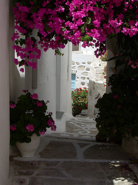 Cycladic alleys in Hora, Serifos Island, Greece