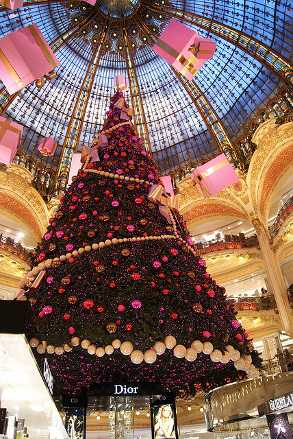 The Christmas tree, Gallerie Lafayette, Paris, France