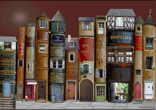 A Book Village, France