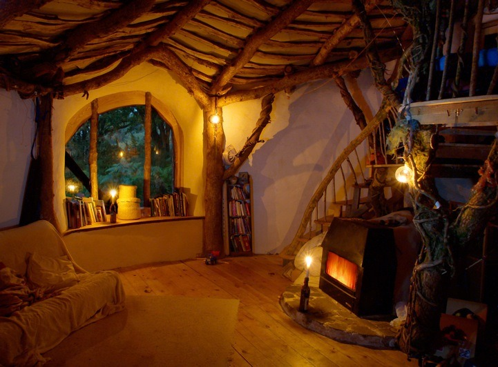 Hobbit House Interior, Wales, Great Britain