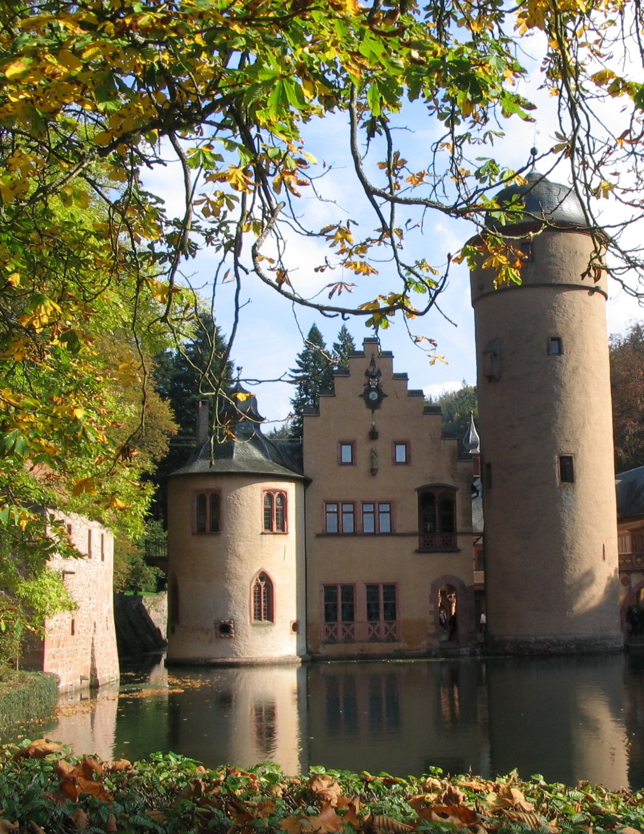 Mespelbrunn Castle, one of the most visited water castles in Germany