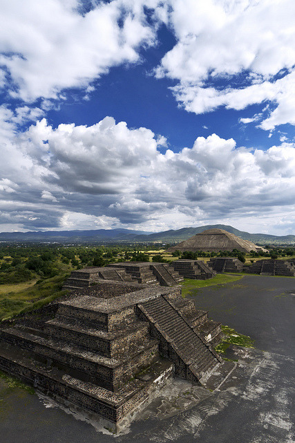 The impressive pre-columbian pyramids of Teotihuacan in central Mexico
