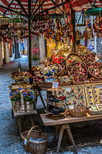 Souvenirs on the streets of Salzburg, Austria