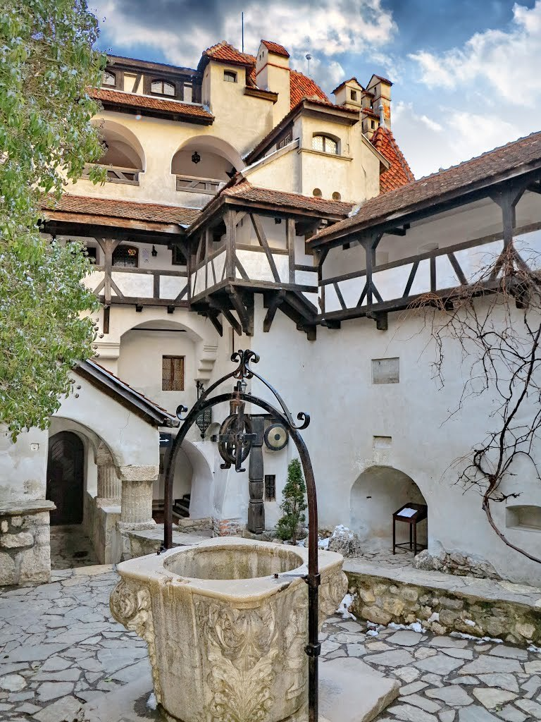 Inner courtyard at Dracula's Castle in Bran / Romania