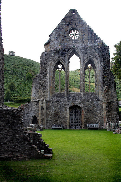 Ruins of Valle Crucis Abbey in Denbighshire / Wales