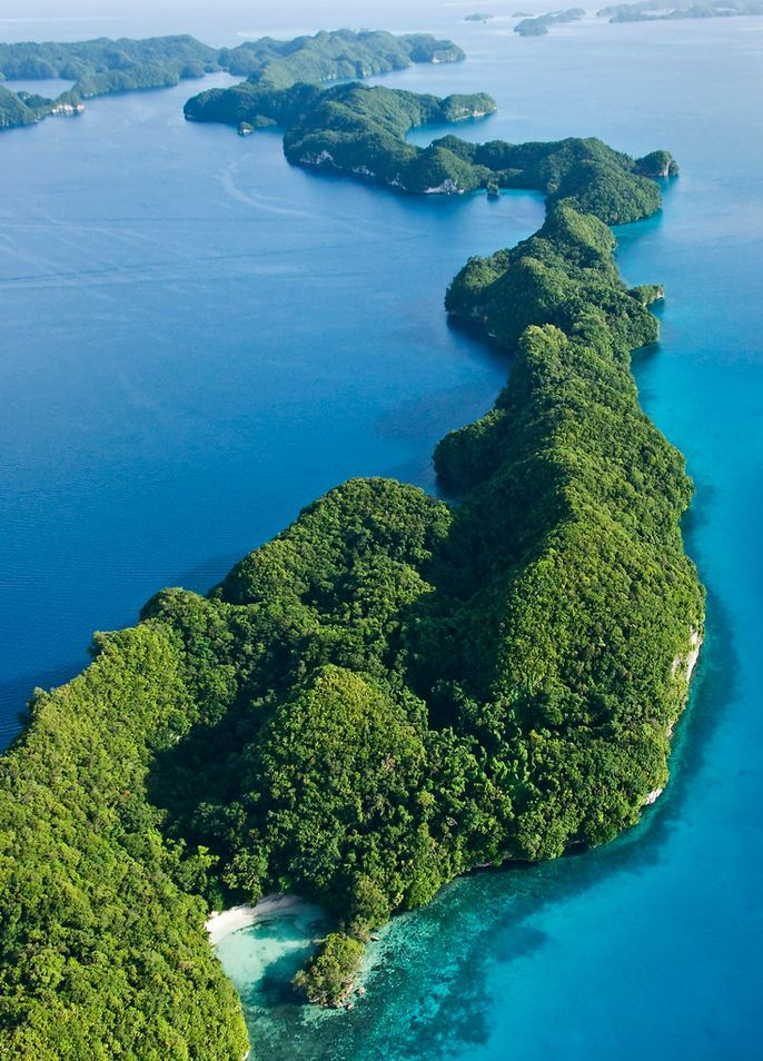 """Scenic flight over Rock Islands, Palau ."""